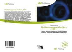 Sicilian regional election, 2001 kitap kapağı