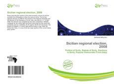 Buchcover von Sicilian regional election, 2008
