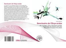 Portada del libro de Sanctuaire de l'Oryx arabe