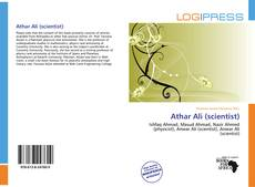 Bookcover of Athar Ali (scientist)