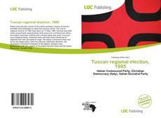 Tuscan regional election, 1985 kitap kapağı