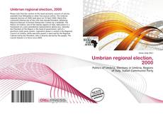 Bookcover of Umbrian regional election, 2000