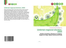 Bookcover of Umbrian regional election, 2005