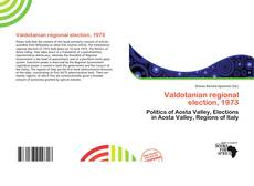Capa do livro de Valdotanian regional election, 1973