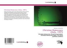 Bookcover of Christian Democracy (Italy, 1997)