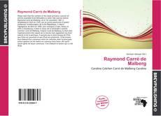 Raymond Carré de Malberg kitap kapağı