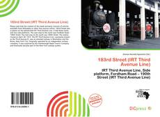 Bookcover of 183rd Street (IRT Third Avenue Line)