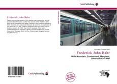 Bookcover of Frederick John Bahr