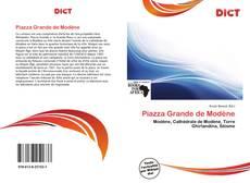 Bookcover of Piazza Grande de Modène