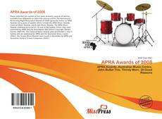 APRA Awards of 2008 kitap kapağı