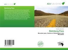 Copertina di Balmberg Pass