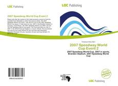 Capa do livro de 2007 Speedway World Cup Event 2