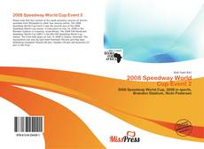 Bookcover of 2008 Speedway World Cup Event 2