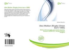 Buchcover von Alex Walker (Rugby Union born 1986)