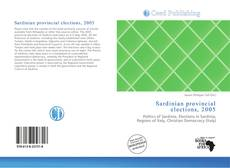 Bookcover of Sardinian provincial elections, 2005