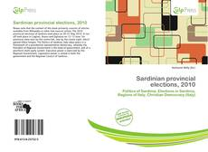 Bookcover of Sardinian provincial elections, 2010
