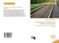 History of California 1900 to Present的封面