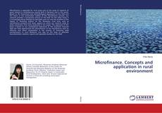 Bookcover of Microfinance. Concepts and application in rural environment