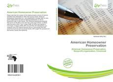 Borítókép a  American Homeowner Preservation - hoz