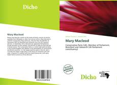 Обложка Mary Macleod