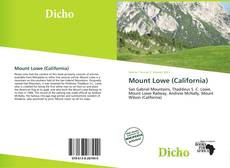 Bookcover of Mount Lowe (California)