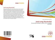 Bookcover of Jack Lang (Australie)