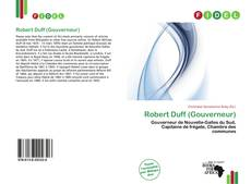 Bookcover of Robert Duff (Gouverneur)