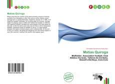 Portada del libro de Matías Quiroga