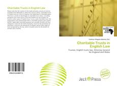 Portada del libro de Charitable Trusts in English Law