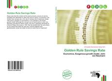 Bookcover of Golden Rule Savings Rate