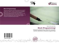 Couverture de Block (Programming)