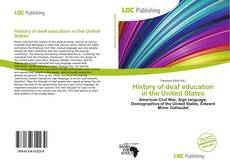 Capa do livro de History of deaf education in the United States