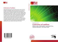 Portada del libro de Criticisms of welfare