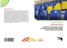 Bookcover of George Hirst