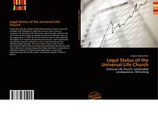 Bookcover of Legal Status of the Universal Life Church