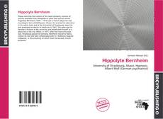 Hippolyte Bernheim kitap kapağı