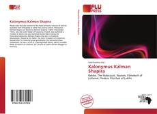 Bookcover of Kalonymus Kalman Shapira