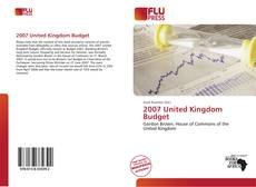 Bookcover of 2007 United Kingdom Budget