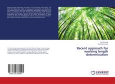 Bookcover of Recent approach for working length determination