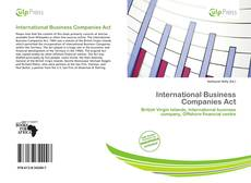 International Business Companies Act kitap kapağı