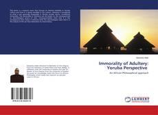 Immorality of Adultery: Yoruba Perspective kitap kapağı