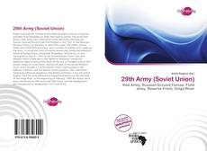 Bookcover of 29th Army (Soviet Union)