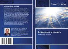 Bookcover of Zeitungsbetrachtungen