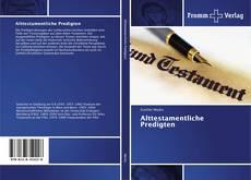 Capa do livro de Alttestamentliche Predigten