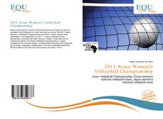Capa do livro de 2011 Asian Women's Volleyball Championship