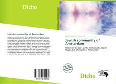 Buchcover von Jewish community of Amsterdam