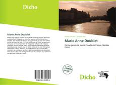 Bookcover of Marie Anne Doublet
