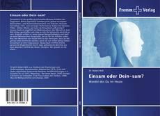 Buchcover von Einsam oder Dein-sam?