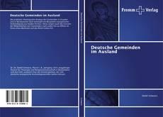 Bookcover of Deutsche Gemeinden im Ausland