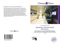 Bookcover of Japanese Government Railways